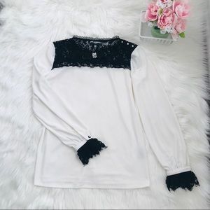 Karl Lagerfeld Paris long sleeve blouse Size xs